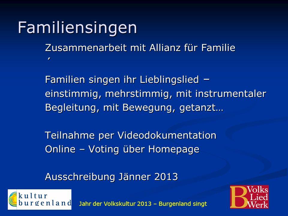 Familiensingen ´ Zusammenarbeit mit Allianz für Familie