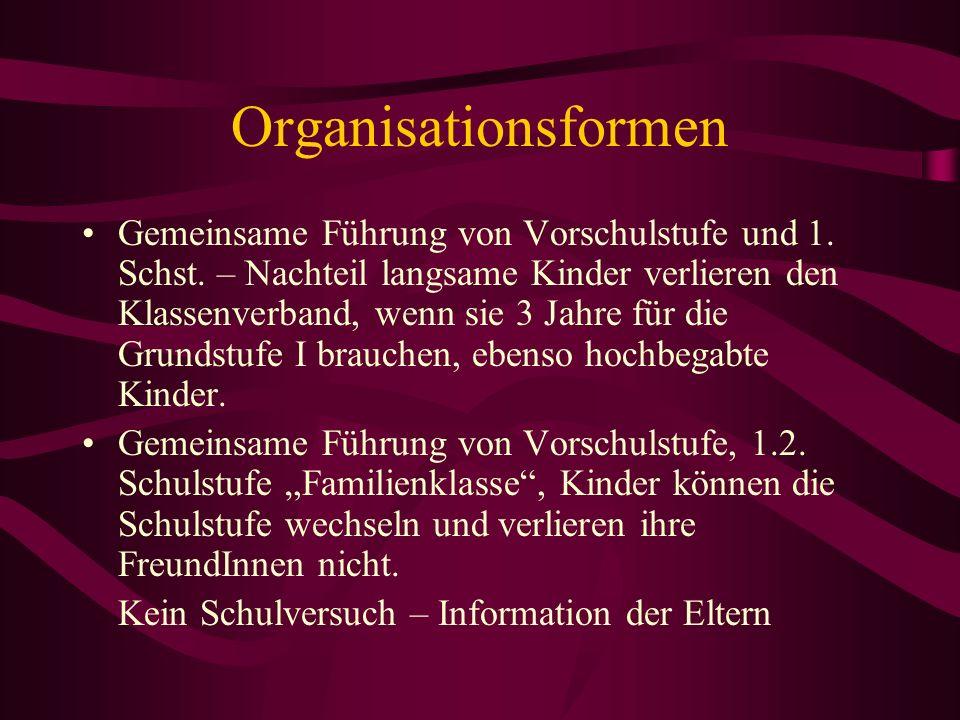 Organisationsformen