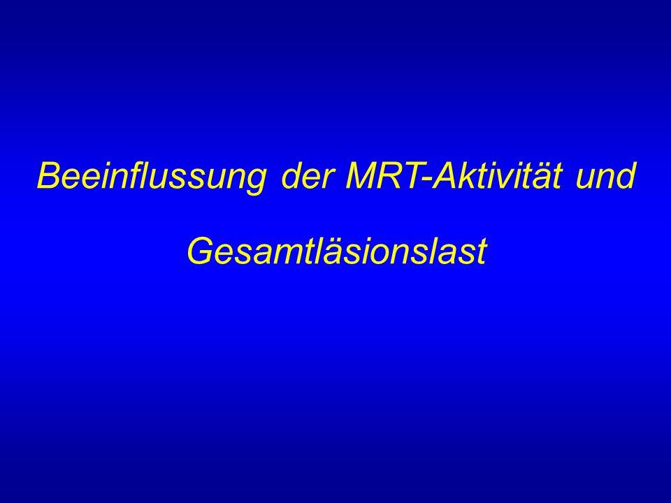 Beeinflussung der MRT-Aktivität und Gesamtläsionslast