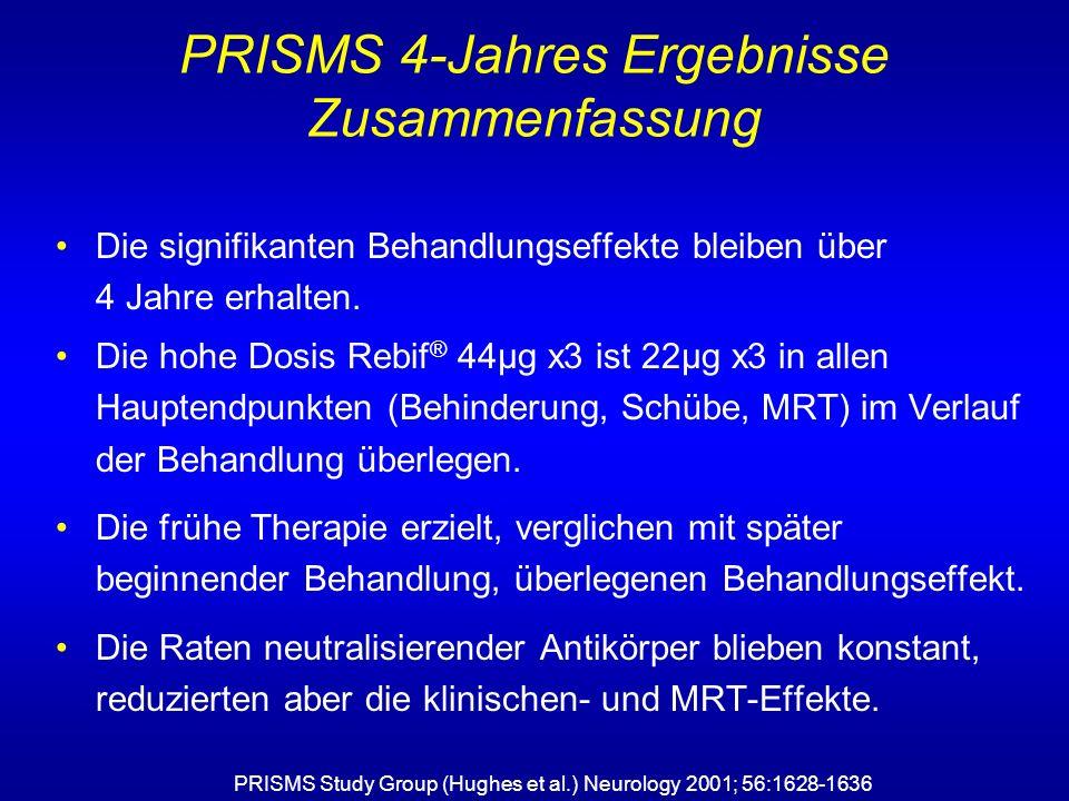 PRISMS 4-Jahres Ergebnisse Zusammenfassung