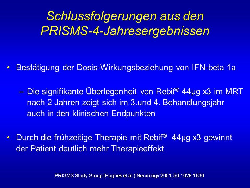 Schlussfolgerungen aus den PRISMS-4-Jahresergebnissen