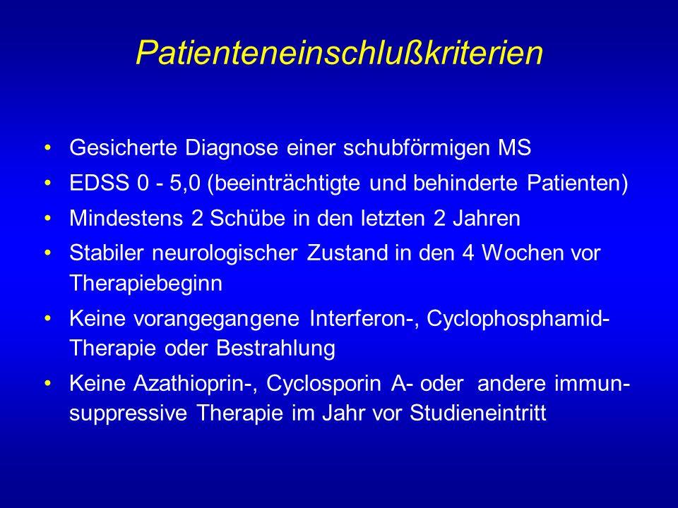 Patienteneinschlußkriterien
