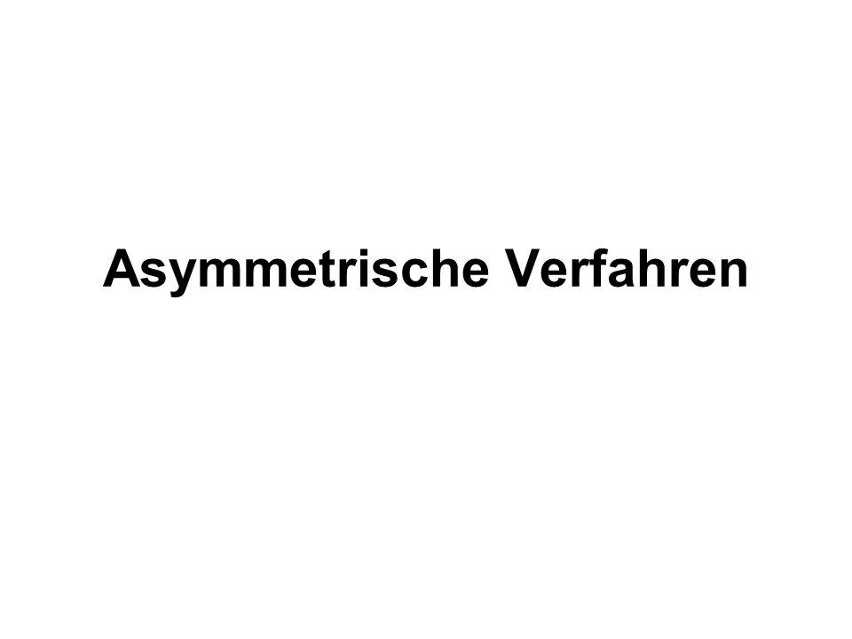 Asymmetrische Verfahren