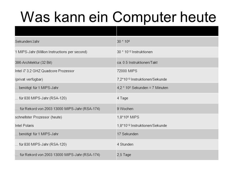 Was kann ein Computer heute