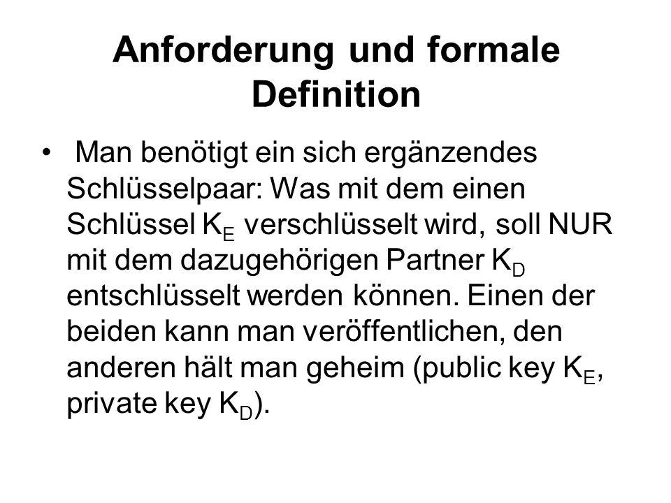 Anforderung und formale Definition