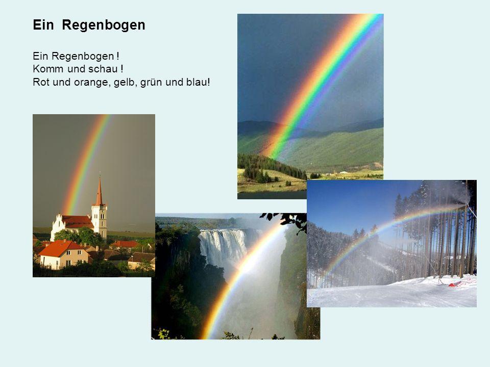 Ein Regenbogen Ein Regenbogen ! Komm und schau !
