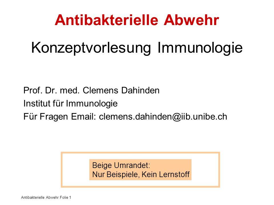 Antibakterielle Abwehr