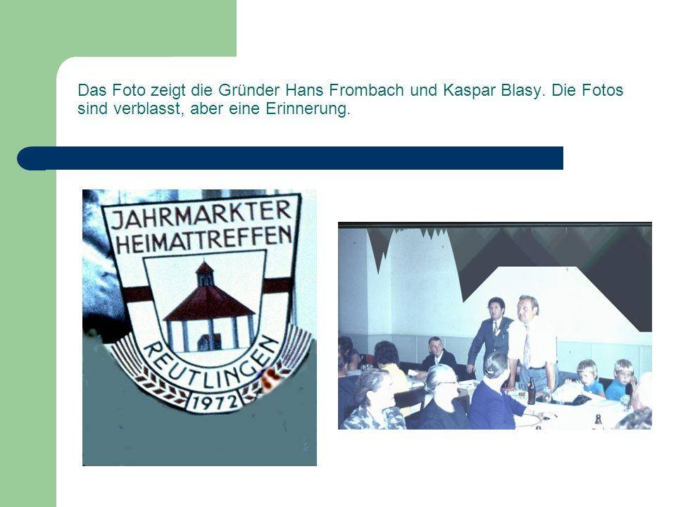 Das Foto zeigt die Gründer Hans Frombach und Kaspar Blasy