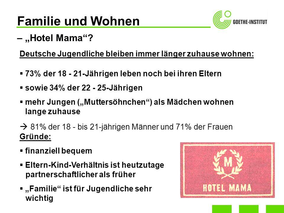 """Familie und Wohnen – """"Hotel Mama"""