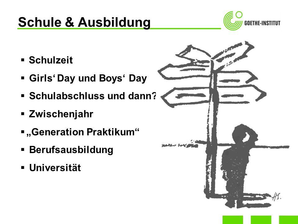 Schule & Ausbildung Schulzeit Girls' Day und Boys' Day