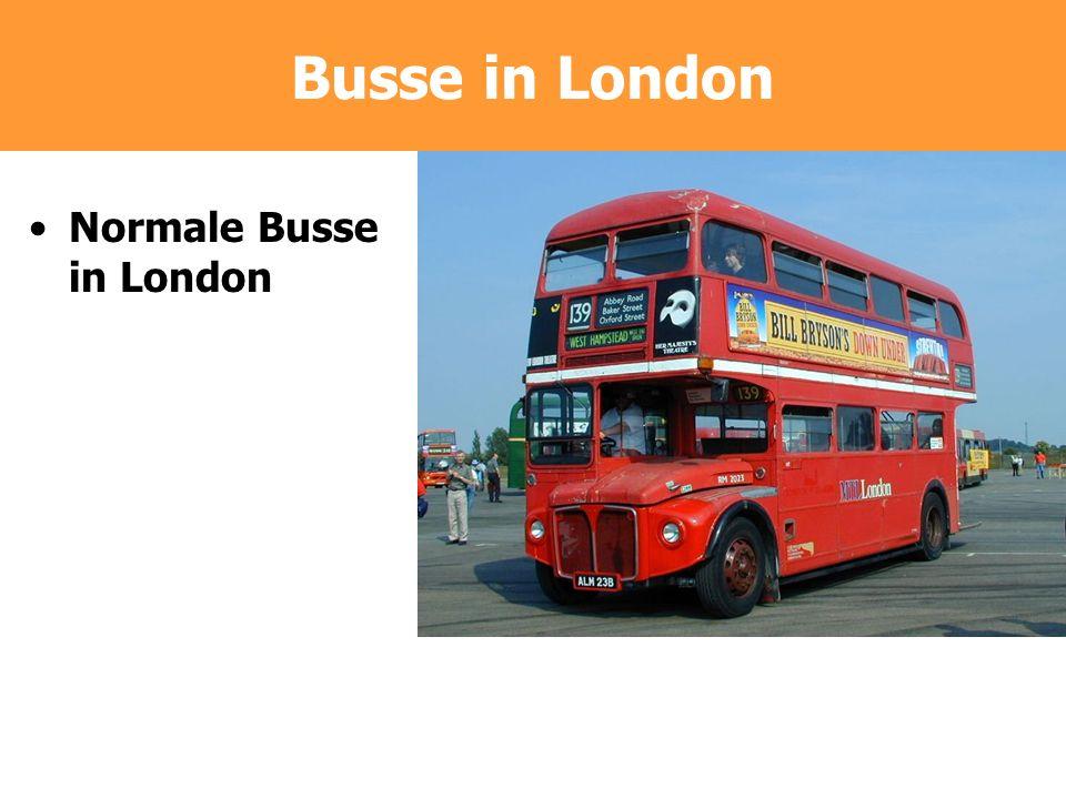 Busse in London Normale Busse in London