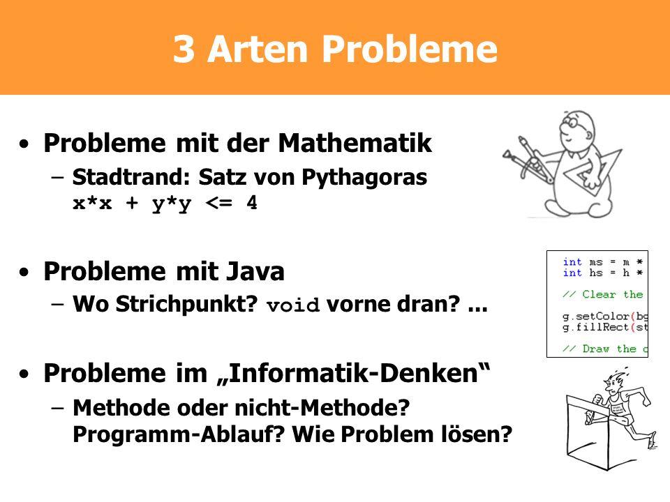 3 Arten Probleme Probleme mit der Mathematik Probleme mit Java