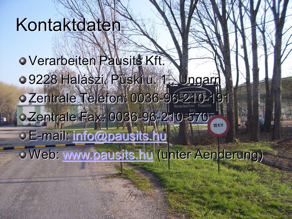 Kontaktdaten Verarbeiten Pausits Kft.
