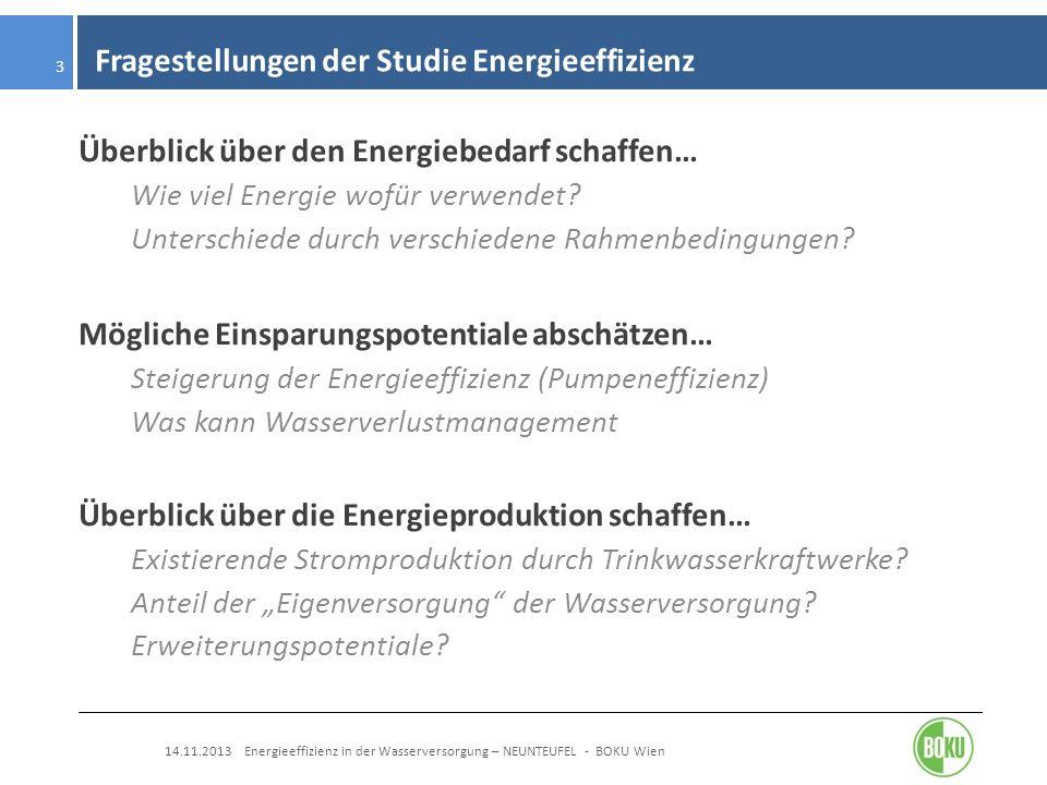 Fragestellungen der Studie Energieeffizienz