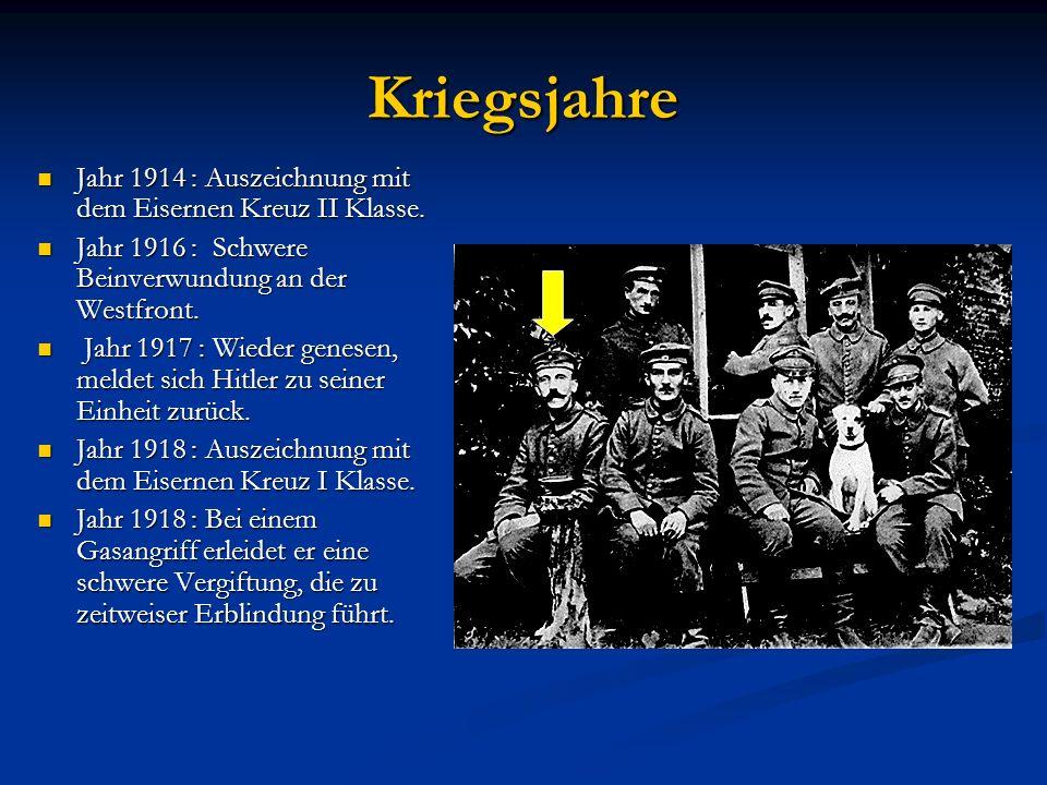 Kriegsjahre Jahr 1914 : Auszeichnung mit dem Eisernen Kreuz II Klasse.