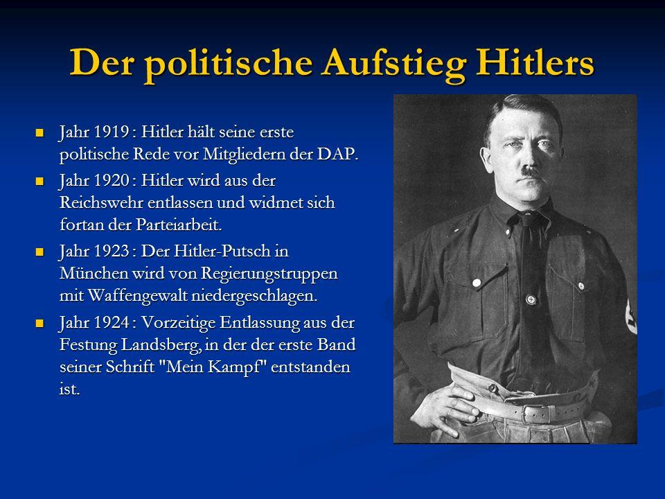 Der politische Aufstieg Hitlers