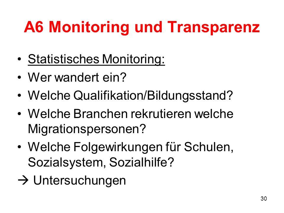 A6 Monitoring und Transparenz