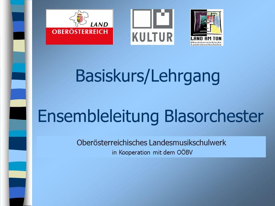 Basiskurs/Lehrgang Ensembleleitung Blasorchester