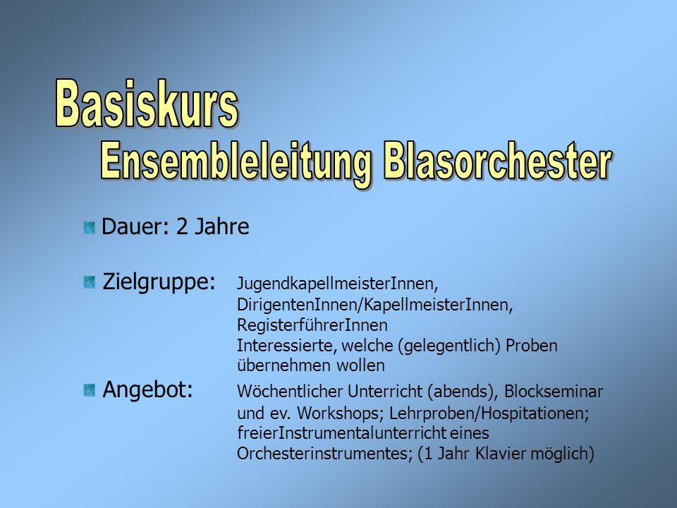 Ensembleleitung Blasorchester