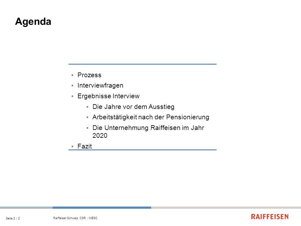 Agenda Prozess Interviewfragen Ergebnisse Interview