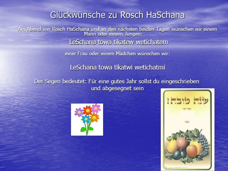 Glückwünsche zu Rosch HaSchana