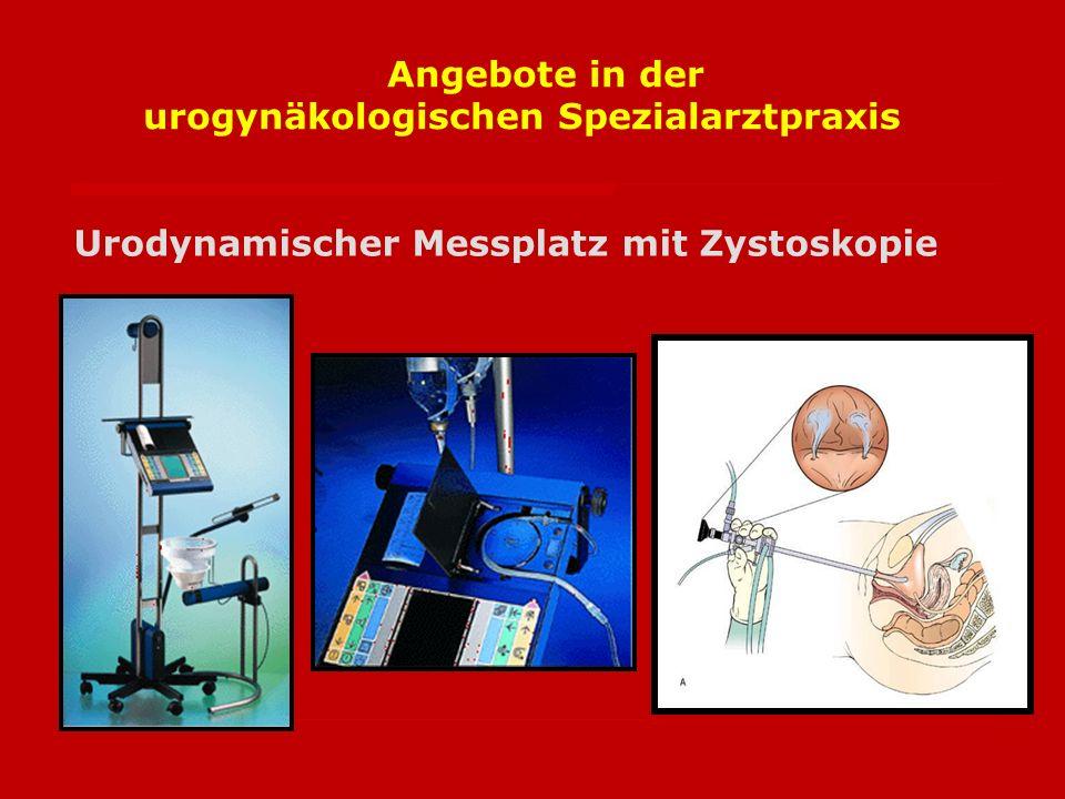 Angebote in der urogynäkologischen Spezialarztpraxis
