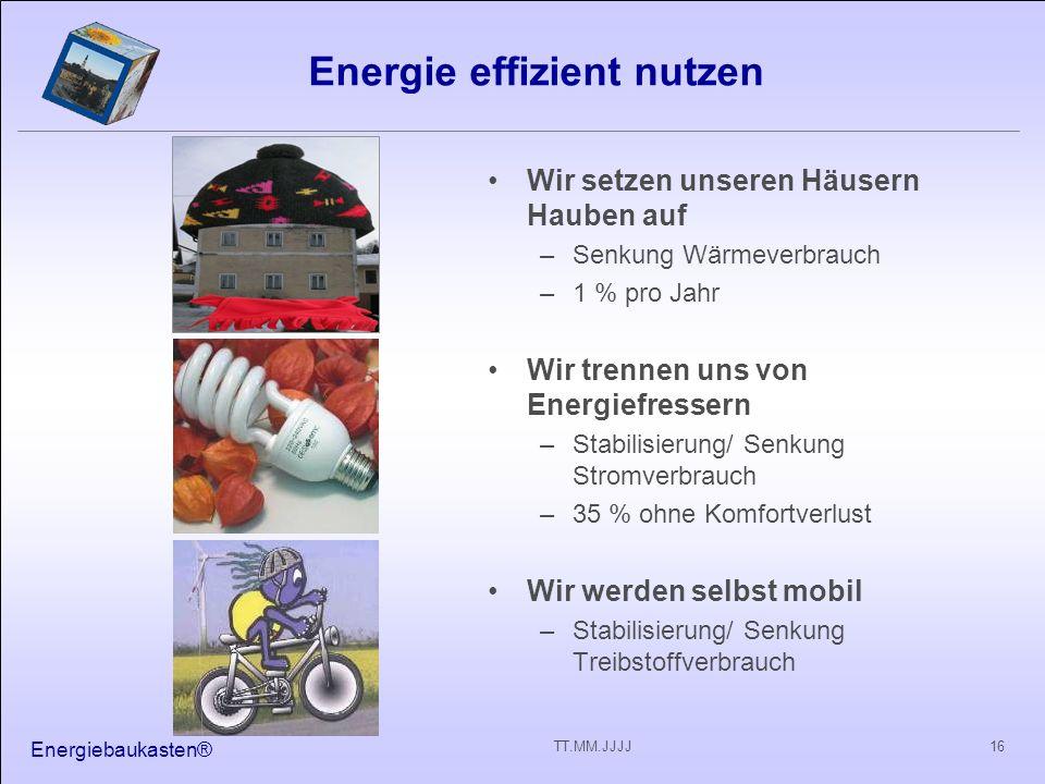 Energie effizient nutzen