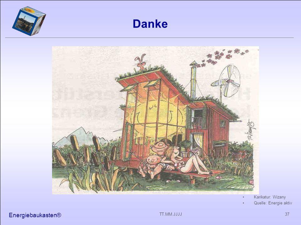 Danke Energiebaukasten® Karikatur: Wizany Quelle: Energie aktiv