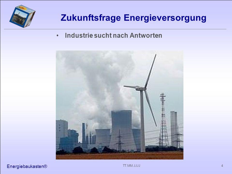 Zukunftsfrage Energieversorgung