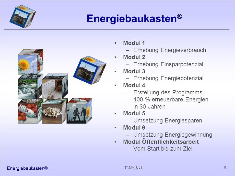 Energiebaukasten® Modul 1 Erhebung Energieverbrauch Modul 2