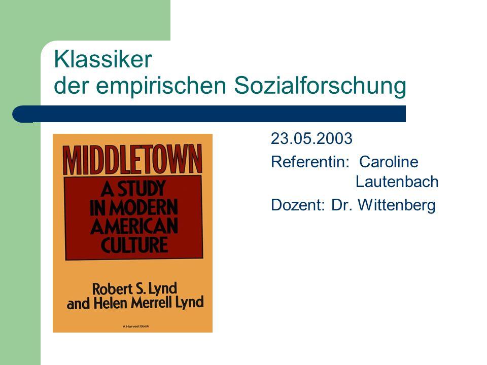 Klassiker der empirischen Sozialforschung