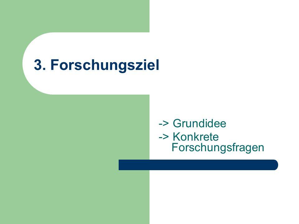 -> Grundidee -> Konkrete Forschungsfragen