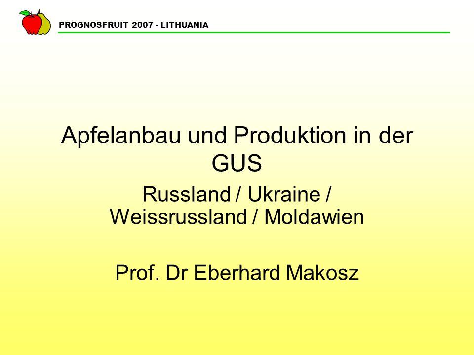 Apfelanbau und Produktion in der GUS