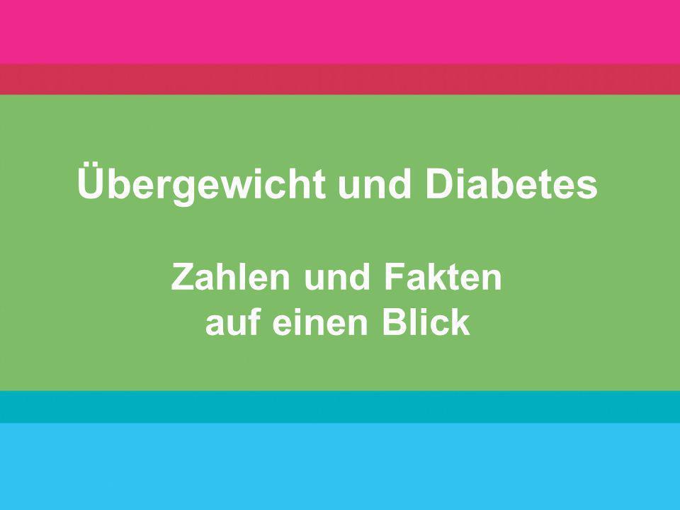 Übergewicht und Diabetes Zahlen und Fakten auf einen Blick