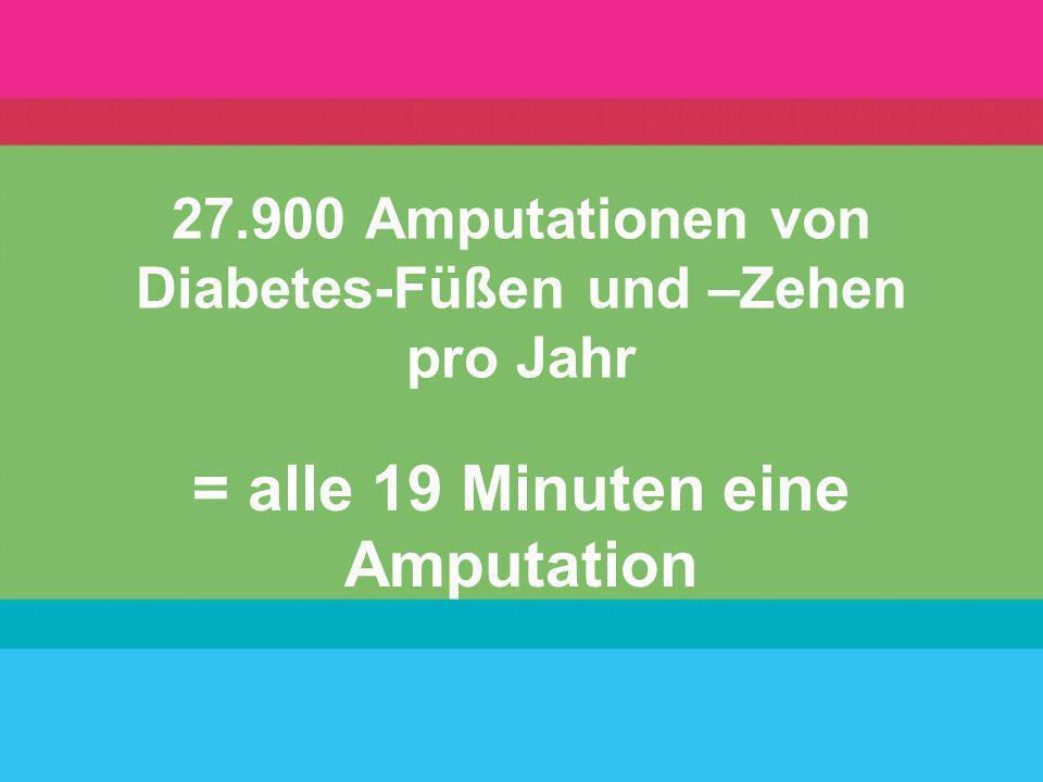 27.900 Amputationen von Diabetes-Füßen und –Zehen pro Jahr