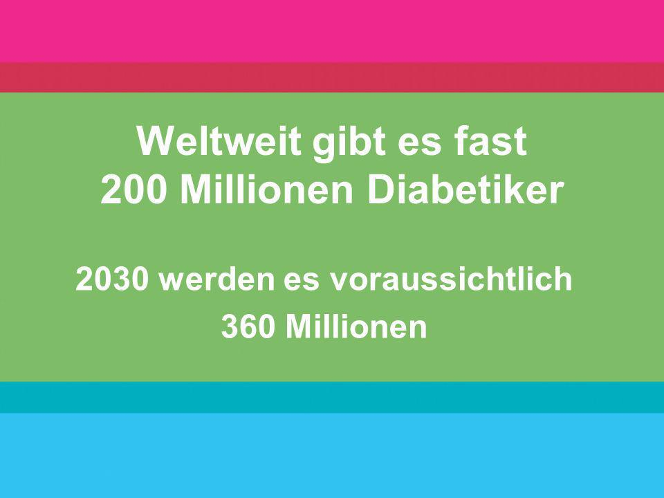 Weltweit gibt es fast 200 Millionen Diabetiker