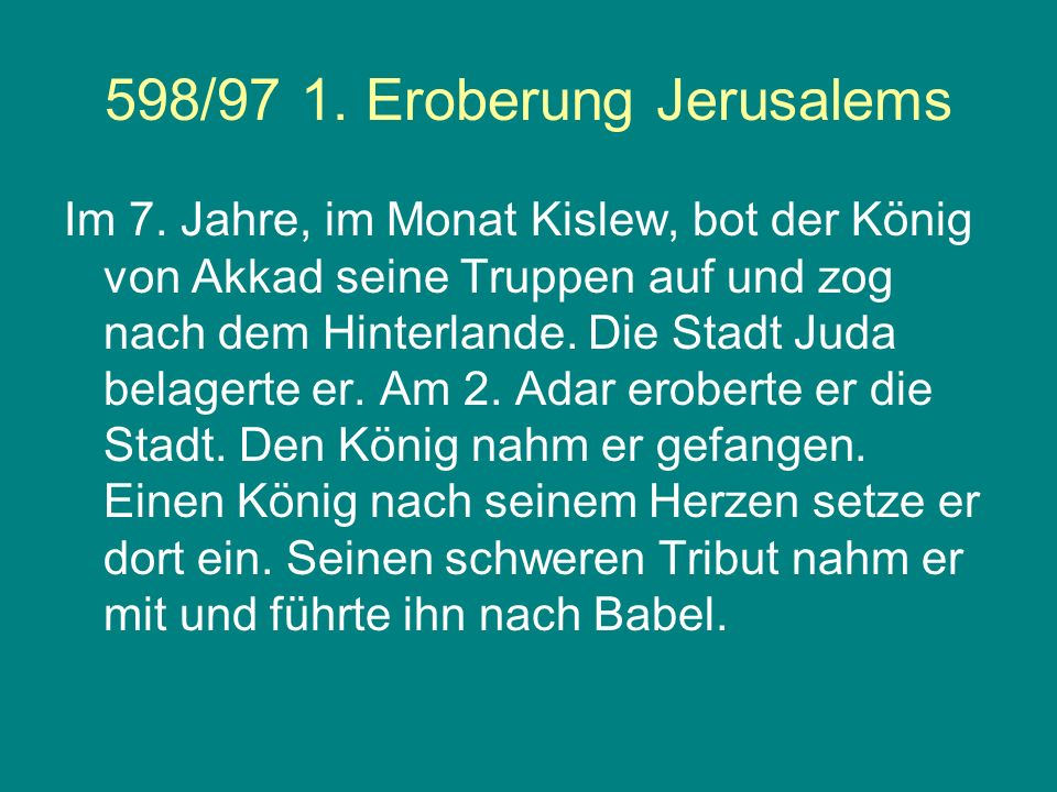 598/97 1. Eroberung Jerusalems