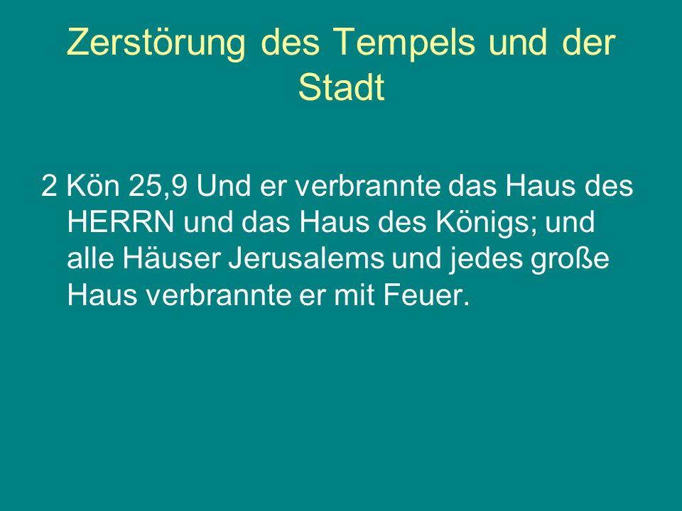 Zerstörung des Tempels und der Stadt