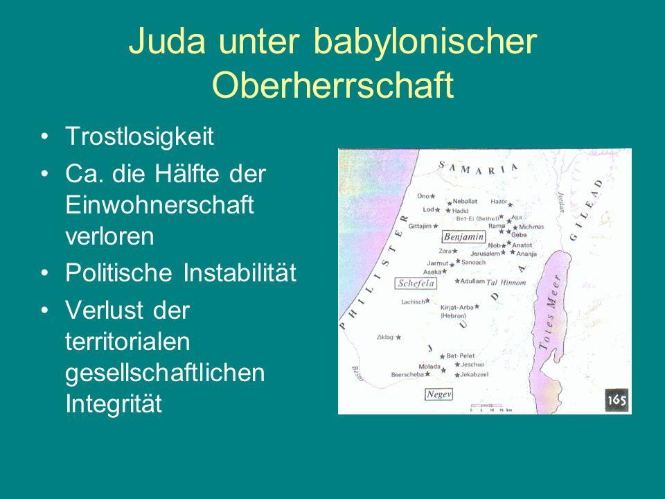 Juda unter babylonischer Oberherrschaft