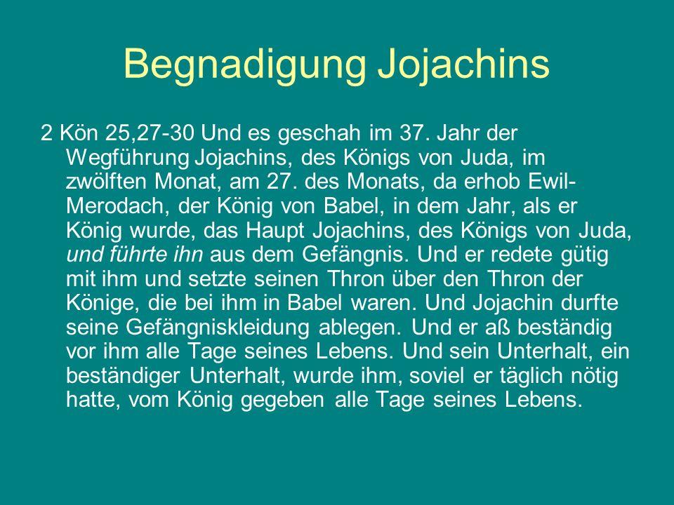 Begnadigung Jojachins