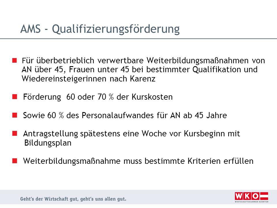 AMS - Qualifizierungsförderung