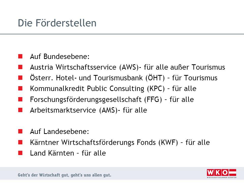 Die Förderstellen Auf Bundesebene:
