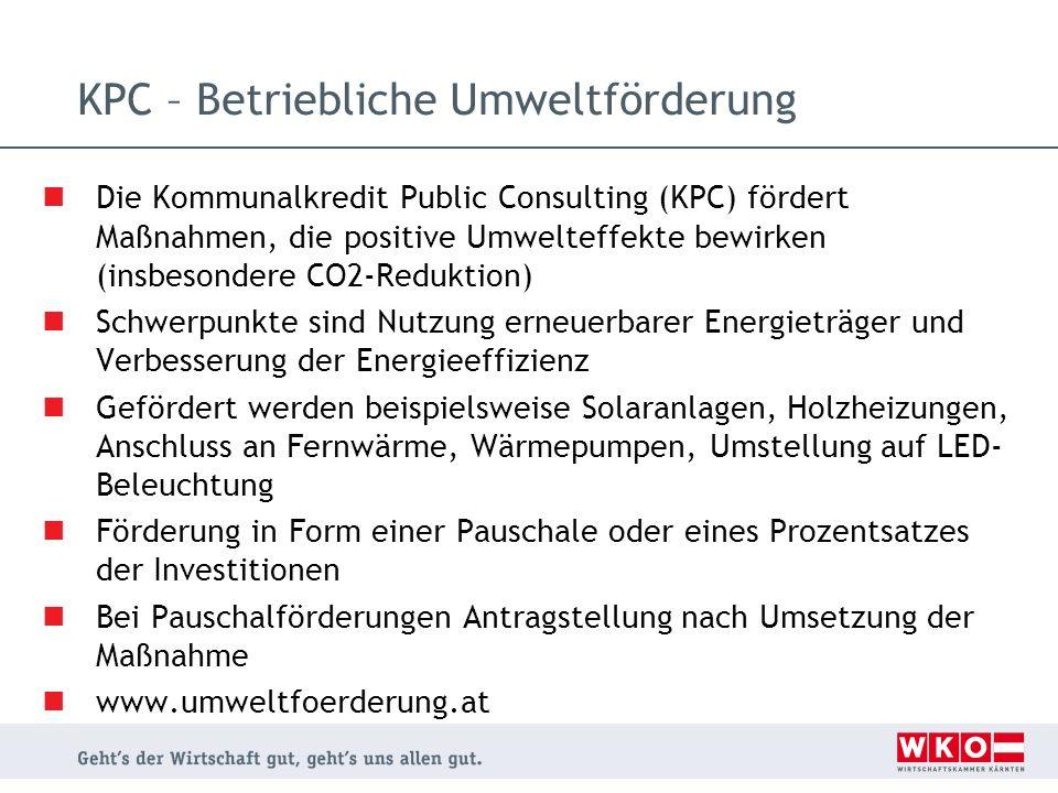 KPC – Betriebliche Umweltförderung