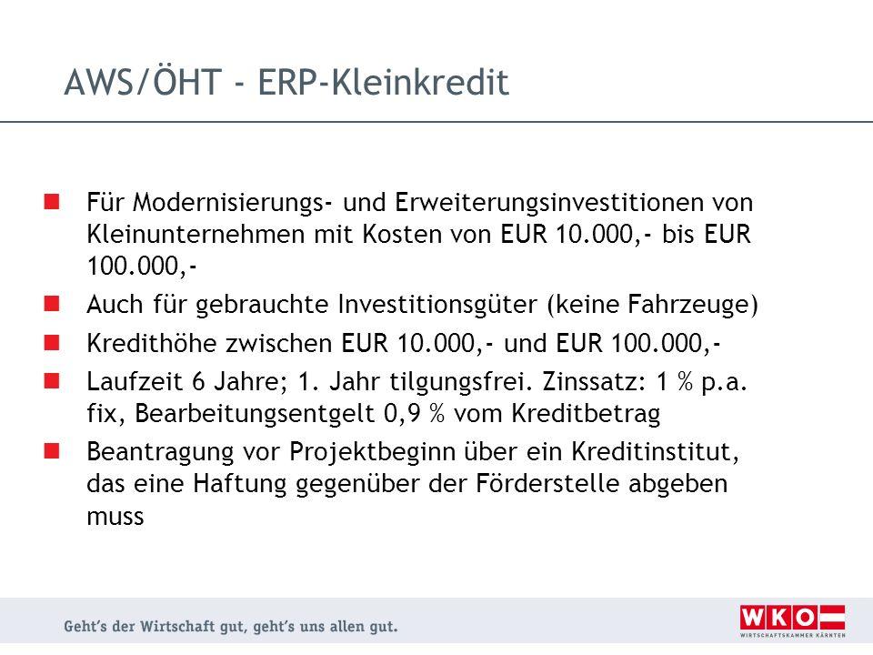 AWS/ÖHT - ERP-Kleinkredit