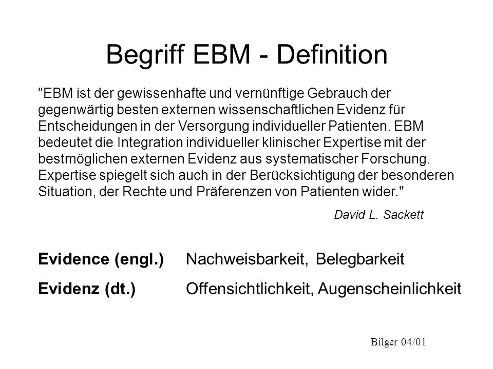 Begriff EBM - Definition
