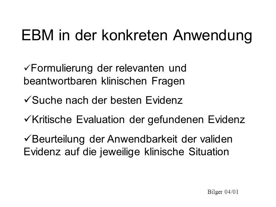EBM in der konkreten Anwendung