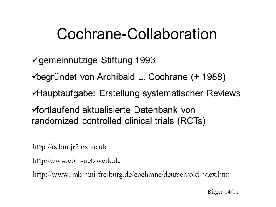Cochrane-Collaboration