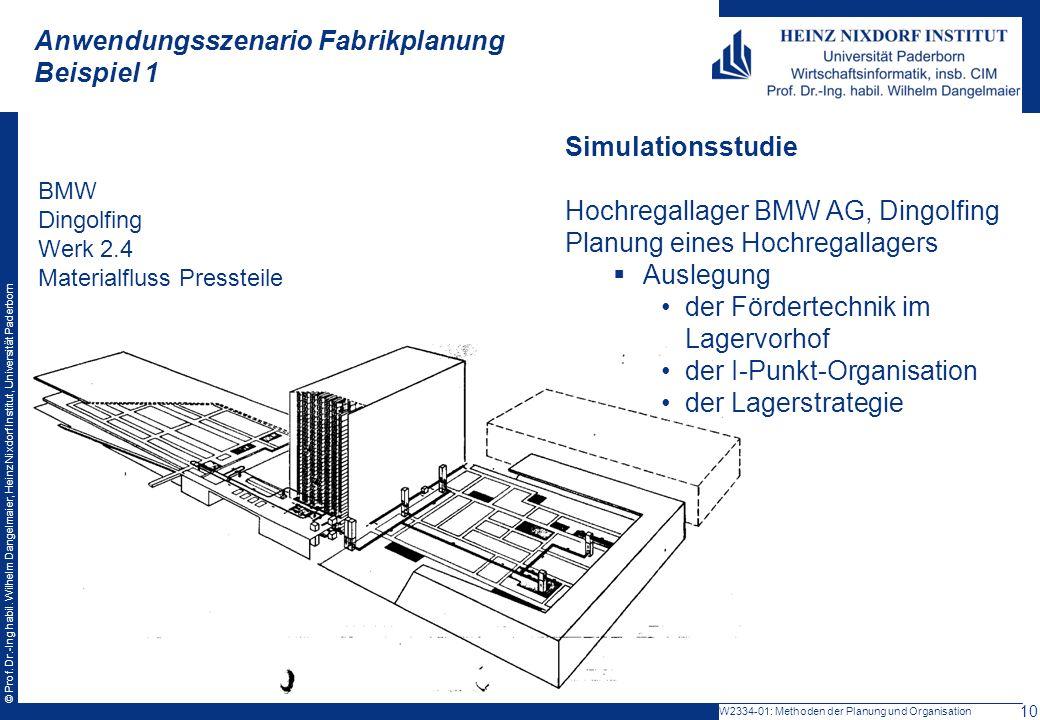 Anwendungsszenario Fabrikplanung Beispiel 1