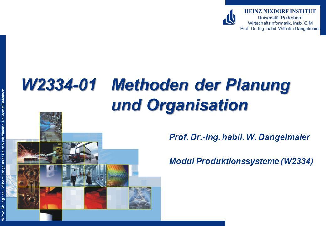 W2334-01 Methoden der Planung und Organisation