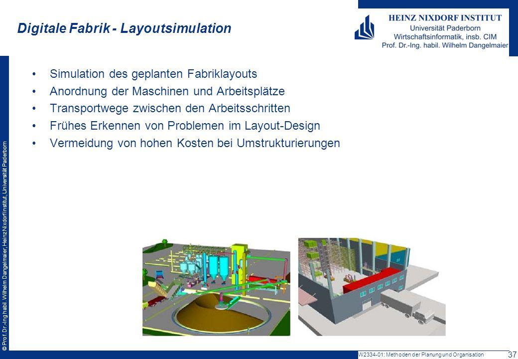 Digitale Fabrik - Layoutsimulation